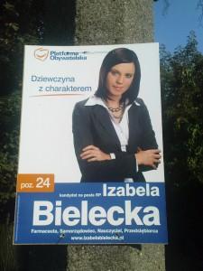 Plakat wyborczy Izabeli Bieleckiej
