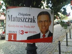 plakat wyborczy Matuszczyk
