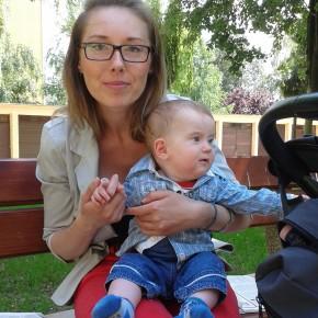 Tymoteusz Lipski z mamą